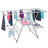 mDesign Tendedero plegable para ropa en color plata - ideal como secador para ropa extensible,...