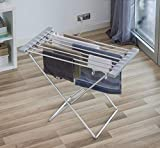 Thermic Dynamics Comfy Dryer MAX Tendedero Eléctrico Plegable, 8 Barras, Acero Inoxidable, Gris, 80...