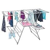 mDesign Tendedero plegable para colgar la ropa – Ideal como secador de ropa extensible –...