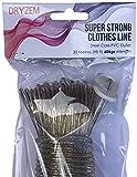 Cuerda para tender la ropa fuerte larga duración núcleo de acero línea de ropa 30 m aprox 100 FT