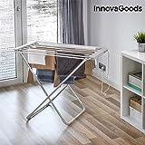 InnovaGoods Tendedero Eléctrico Plegable, Aluminio y ABS, Gris, 94x79x51 cm