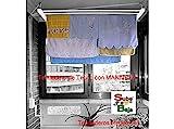 Tendederos Efegete Tenmv120 - Tendedero techo manivela 120cm ac bl sube-baja efegete