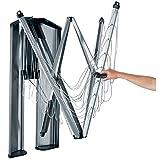 Brabantia 475924 - Tendedero de ropa plegable de pared Wallfix, con caja de almacenamiento en acero,...